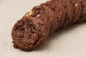 driedubbele chocoladekoekjes foto