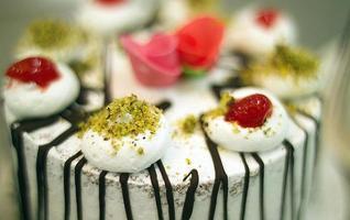 catering, decoratieve taarten. foto