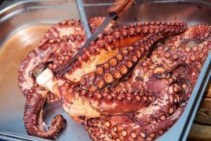 gekookte octopus foto