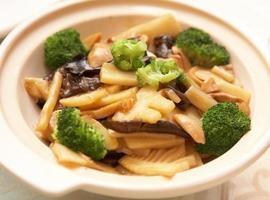 gekookte groente foto