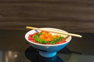 rijst met maguro zalmtartaar gohan.