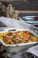 braadpan van eggplan foto