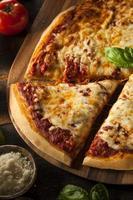 zelfgemaakte warme kaas pizza foto