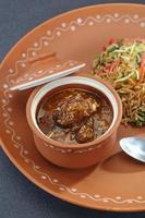 plantaardige manchurian en gebakken rijst