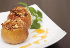 gebakken appels. foto