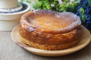 gebakken cheesecake foto