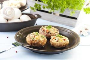gebakken gevulde champignons foto