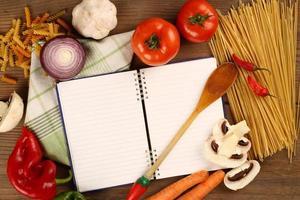 leeg receptenboek foto