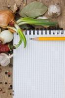 notitieboek om recepten met kruiden te schrijven