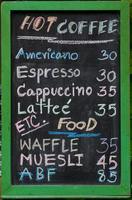 menu foto