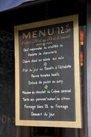 Frans menu foto