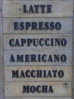 koffie menu