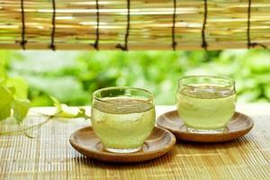 koude groene thee foto