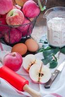 zelfgemaakte appeltaart maken foto