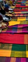 Mexicaanse deken en charro hoeden foto