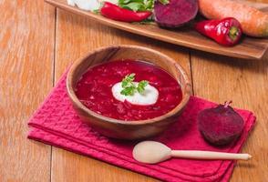 soep met rode bieten foto