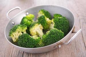 braadpan met broccolis foto