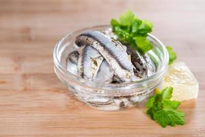 ingelegde anchovis foto