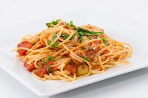 spaghetti schotel foto