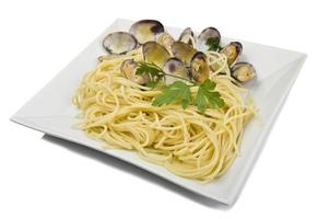 clam saus met spaghetti foto