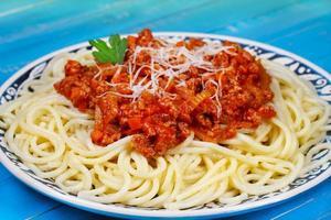 spaghetti met bolognesesaus foto