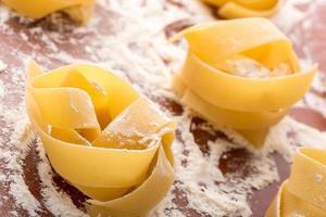 zelfgemaakte pasta foto