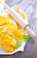 rauwe pasta foto
