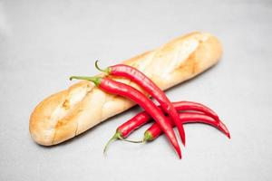stokbrood en pepperoni foto