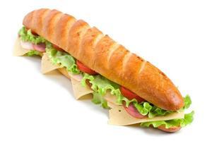 lange stokbrood sandwich foto