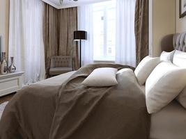 slaapkamer in gotische stijl foto