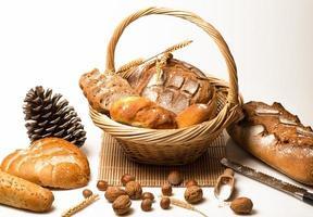 assortiment van gebakken brood foto