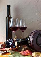 fles met wijn