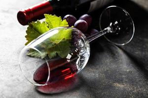 glas rode wijn foto