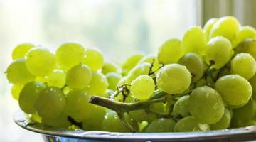 rijpe groene druiven foto