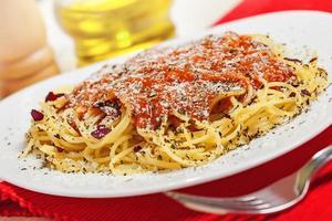 eten, pasta foto