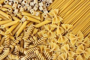 integrals pasta - textuur foto