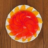fruit en gelei cake foto