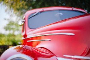 klassieke rode auto foto