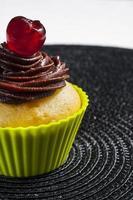 cupcake met kers foto