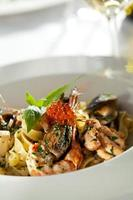 pasta met zeevruchten foto