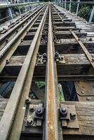 Spoorwegovergang. foto