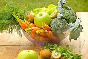 ingrediënten voor een gezonde groene smoothie foto