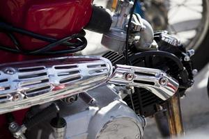 klassieke motorfiets foto