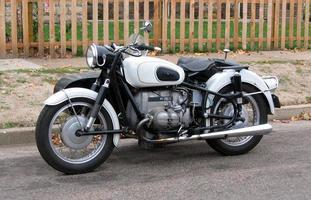 vintage motorfiets foto