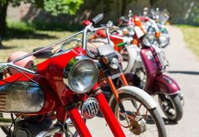 retro motorfietsen foto