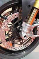motorfiets schijfrem foto