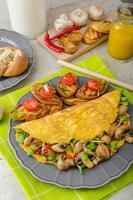 vegetarische omelet, eet schoon