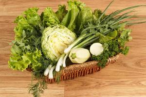 verse groene groenten foto