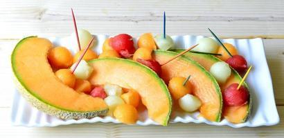 Cantaloupe meloen. foto