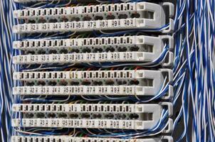 aansluitpaneel voor telecommunicatiesystemen foto